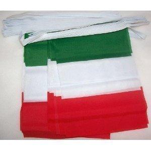 World of Flaggen 6m 20Flagge Italien Wimpelkette (Costume World)
