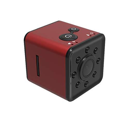 1080P Mini-Kamera, SQ13WIFI Kamera Wireless-Web-Kamera Outdoor-Sport schießen DV wasserdichte Tauchkamera,Red Kamera Web-monitoring