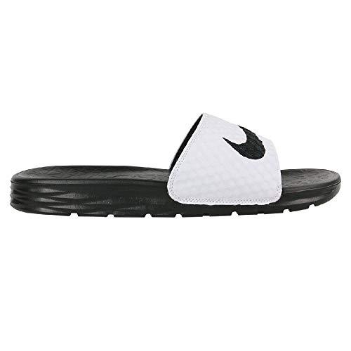 watch ab6a3 d1c66 Nike Benassi Solarsoft, Chaussures de Plage   Piscine Homme, Blanc  (White Black