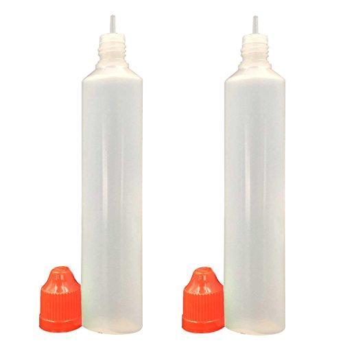 60ml x 10 Pack LDPE Plastikware Leere Squeezable Dropper Liquid Einhorn Stift Flaschen Pipette mit Plastik Abdeckung Stopper Bottles(Flasche + Orange Kappe + Spitze)