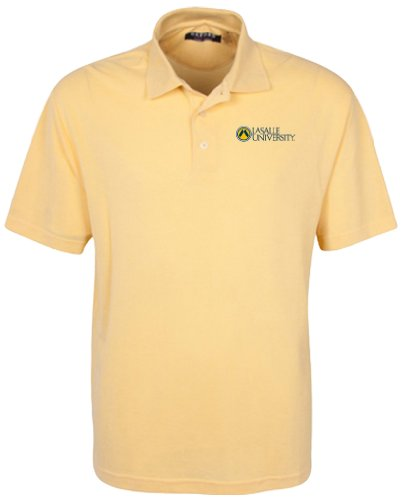 Oxford NCAA La Salle Explorers Herren 's Classic Pique Polo, groß, citrus (L/s Explorer Shirt)