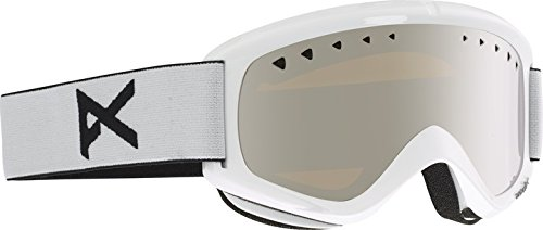 Anon Men's Helix Goggles W. Spare Lens, White/Silver Amber, One Size - Anon Helix Snowboard Goggles