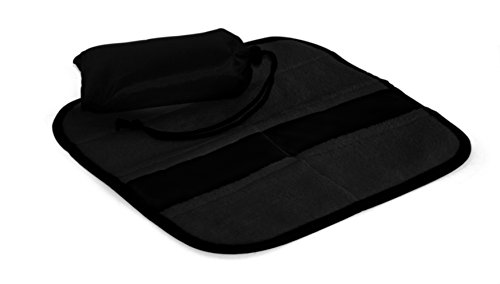 "Linotex trendige Sitzkissen ""All-Sit -Premium"" | Thermo-Isolierfolie | Microfleece 300 g/m² | 33 x 33 cm | NY-07-07-020 (Schwarz)"