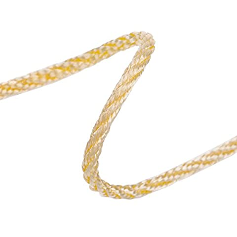 Neotrims 4mm Barley Twist Rope Cord Trimming, Braided,For Piping or Edging, Home Décor&Furnishings.Poly Viscose Sheen,25 Stunning Fashion and Standard Colours.High Strength, Functional,Supple Handle - Butterscotch Gold - 24 Yards (1