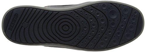 Geox J Arzach A, Sneakers Basses Mixte Adulte Bleu (Navy/dk Yellow)