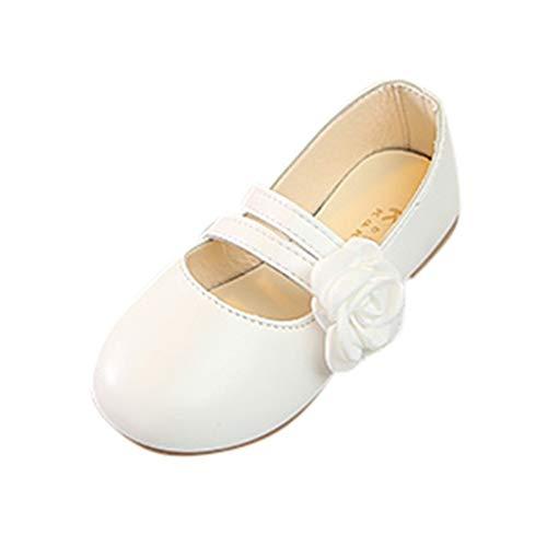 SEWORLD Sandalen für Kinder Sommer Baby Mädchen Blumen Tanzschuhe Performance Schuhe Princess Freizeitschuhe Lauflernschuhe Einzelne Schuhe Weiche Sohle Krabbelschuhe(Weiß,30 EU) (Mädchen Größe 1 Cowboy Stiefel)