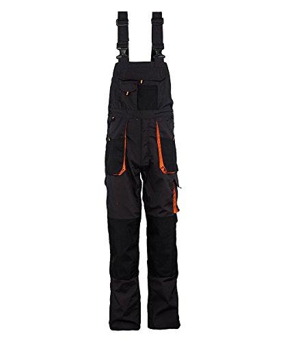 Stenso Emerton - Salopette da lavoro extra resistente - uomo - grigio scuro/nero/arancione - 56