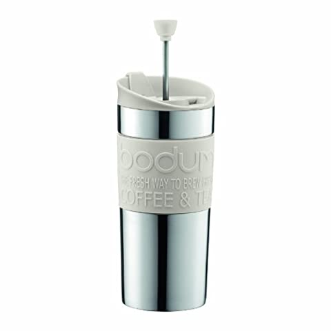 Bodum K11067-913 Kaffeebereiter 0.35l weiß TRAVEL PRESS