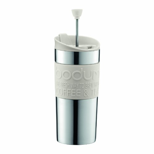 Bodum K11067-913 Kaffeebereiter 0.35l weiß TRAVEL Press (Kaffee K-tassen Normaler)
