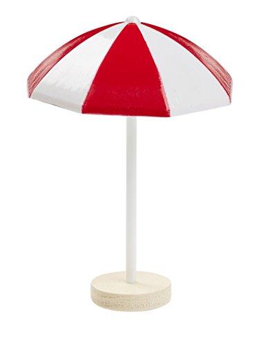 Sonnenschirm ca. 6 cm, Kunststoff, rot/weiss