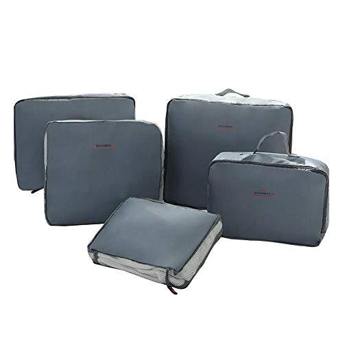 5-stück Gepäck (D.ragon Reisetasche Gepäck Organizer für Kleidung, 5 Stück wasserdichte Reise Aufbewahrungstasche Tasche für Kleinigkeiten, Gepäck Reisetasche)