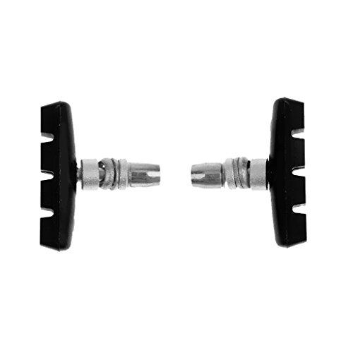 Generic 2pcs/set 72mm V-Brake Bremsschuhe / Fahrradbremse, Anti-Rutsch Design, aus Hochwertigem Gummi für 20 Zoll, 16 Zoll, 14 Zoll Räder
