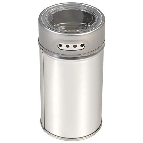 Gewürzdose 1 Stück 55/105mm runde Dose für Gewürze, Gewürzaufbewahrung mit Sichtfenster und Streulöchern - Bremer Gewürzhandel