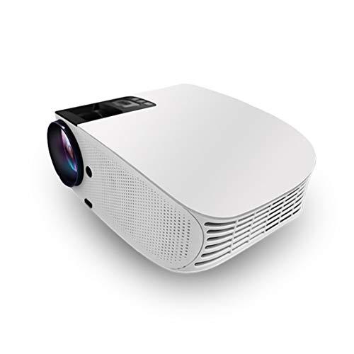 HiXB Professioneller Hd-Projektor Surround-Sound Mit KüHleffekt Dual-Hdmi-USB-Schnittstellenkonfiguration Kompatibles Mobiltelefon Hdmi-Hdmi-Vga-Av-Kabel Sd-Karte,White 4m-av-kabel