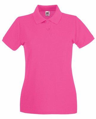 Neue Damen Polo (Lady-Fit Premium Poloshirt Fruit of the Loom neue Farben 2017 M Fuchsia)