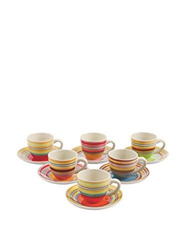Galileo Set Kaffeetasse mit Untertasse 6Stück. Saint Tropez Mehrfarbig