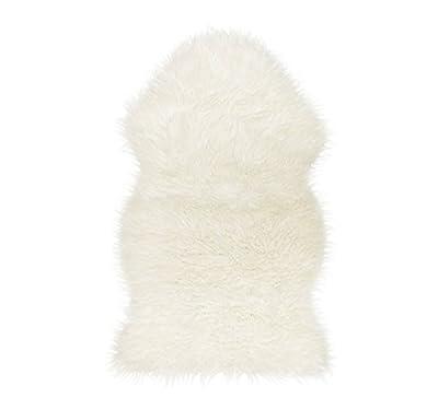 Super Soft Sheepskin Rug - Excellent Quality Faux Fur Rug - Modern Style Design - cheap UK light store.