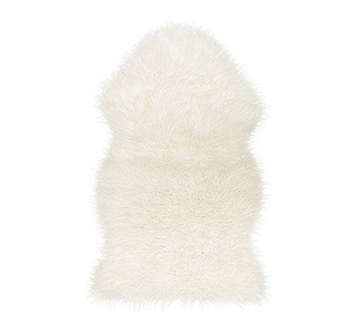 Super Soft Sheepskin Rug - Excellent Quality Faux Fur Rug - Modern Style Design(White)
