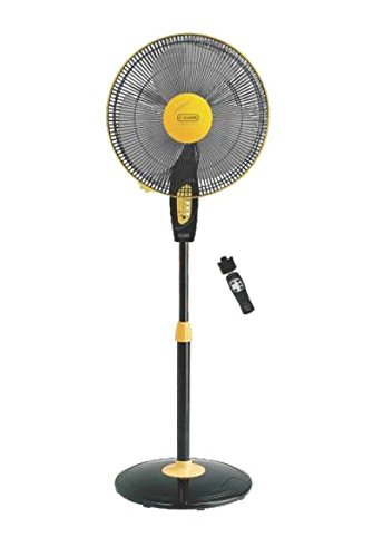 V-Guard Finesta Remote 400mm Pedestal Fan (Yellow Black)