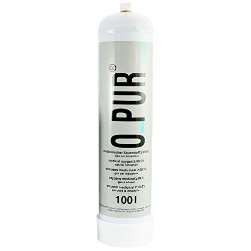 O PUR med. O2 Einwegflasche 66 oder 100l mit oder ohne Dauerventil, Ausführung:100 Liter