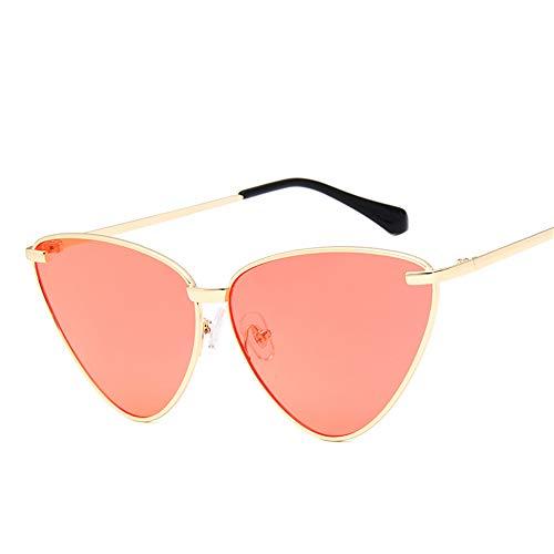 hw Retro Mode Mann und Frau farbige Katzenauge Sonnenbrille Pink2