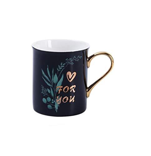 ssekreative Farbe Glasierte Keramische Tasse, Personalisierte Tierkaffeetasse Drinkware Keramische Goldene Griffbecher Milch-Schalen-Handschale ()