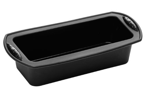 Premier Housewares - Molde Rectangular de Silicona para Horno, Color Negro