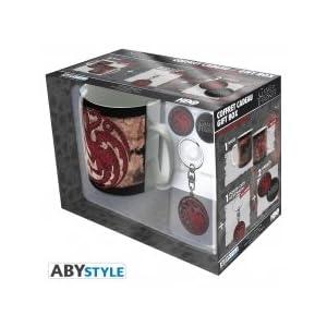ABYstyle - Juego de tronos - Caja de regalo - taza + llavero + Targaryen pins 8