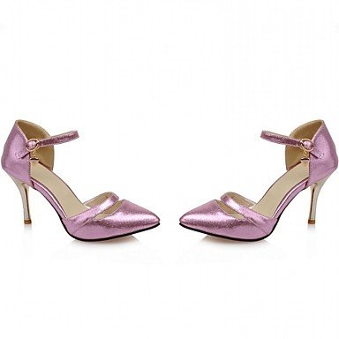 Moda Donna Sandali Sexy donna tacchi Primavera / Estate / Autunno tacchi / Round Toe sintetico brevetto / Cuoio / LeatheretteWedding Silver
