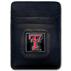 NCAA Texas Tech Red Raiders Leather Money Clip/Cardholder