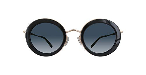Max mara mm eileen ku 807 46 occhiali da sole, nero (black/bluee avio), donna