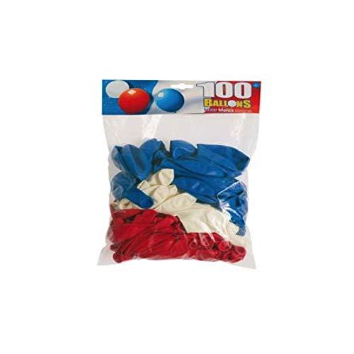 Sachet De 100 Ballons Bleu/Blanc/Rouge - Taille Unique