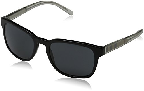 Burberry 0be4222 300187 55, occhiali da sole uomo, nero (black/grey)