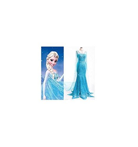 Kleid Elsa Erwachsen (Frozen) - XL