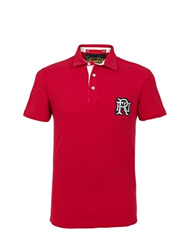 Front Up Rugby Herren Short Sleeve Polo Z76 Red