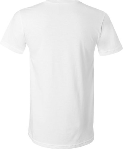 Bella 3005 – Men 's Jersey v-neck T-Shirt White