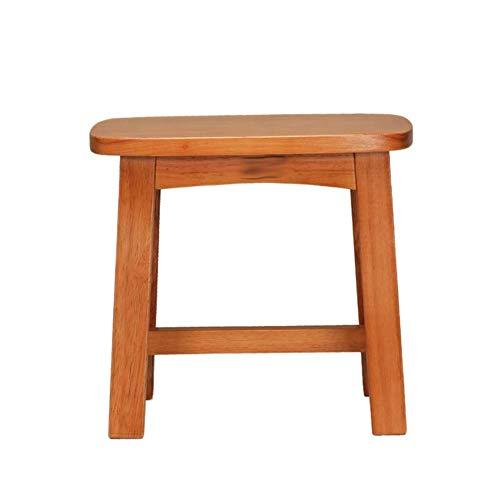 ZDXMZ Revival Wood Tritthocker/Akzent aus Mahagoni in schickem, leicht Distressed Finish (quadratischer Sitz, for den Heimgebrauch) -