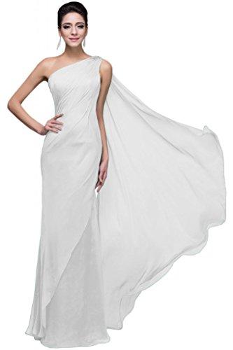 Sunvary spalle da parte posteriore aperta Pageant Sera Sera Gowns con nastro Bianco