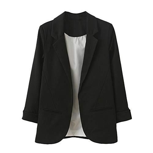 TOPKEAL Jacke Mantel Damen Herbst Winter Sweatshirt Steppjacke Kapuzenjacke Neun Viertel Hoodie Pullover Manschettenärmel Blazer Eleganter Slim Suit Outwear Coats Mode - Bane Kostüm Mädchen