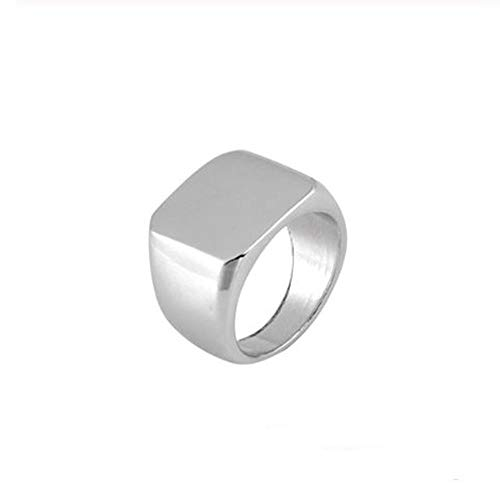 �r Square Ring Men Width Signet Polierte Fingerringe Punk Ring Jewelry    12 ()
