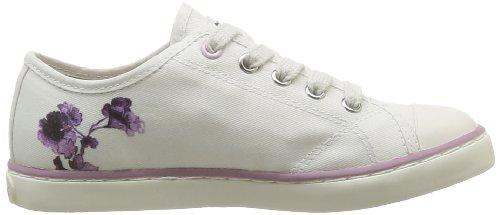 Geox - J Ciak G. F, Sneaker Bambina Bianco (Blanc (Off White/Pink))