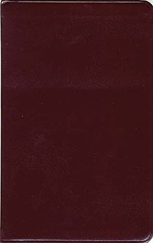 King James Slimline Bible: Burgundy Bonded Leather : Gilded-Gold Page Edges