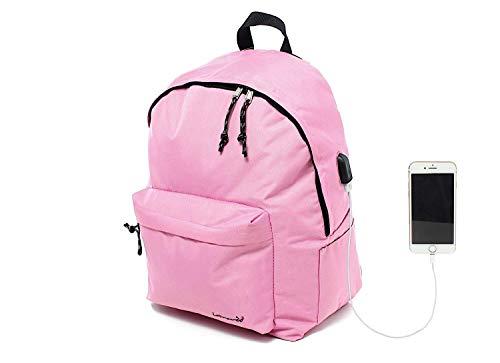 Leonardo Zaino Imbottito per Tablet, iPad, Porta PC, Computer, MacBook. Impermeabile Ricarica USB, per Lavoro, università, Scuola, Mare, Viaggi