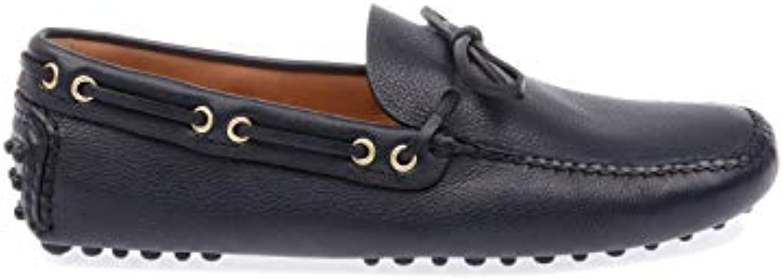 Car scarpe Mocassini Uomo XW8DAINO2F0008 Pelle Blu Blu Blu | prezzo di sconto speciale  304ab3