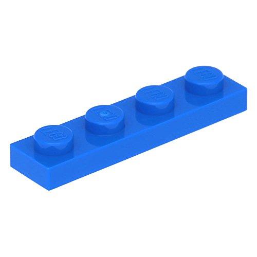 10 x LEGO® Platte 1 x 4 Blau