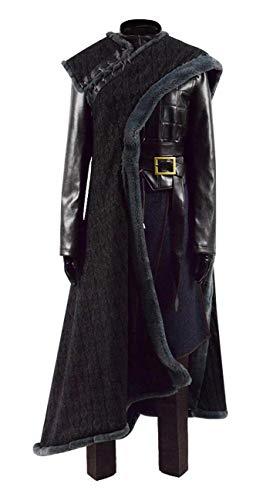 Halloween Melisandre Kostüm - Qian Qian Erwachsene Arya Kostüm Season 8 Ritter Outfit Halloween Cosplay Kostüm (XS, Dunkel Braun Vollständiger Satz)