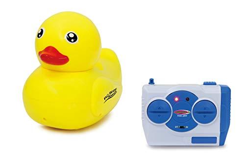 Jamara 410110 RC Water Animals 2,4GHz Ente-mit Sicherheitsfunktion Schiffsschrauben drehen Sich nur im Wasser, 2 Antriebsmotoren, einfach zu steuern, gelb