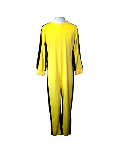 Bruce Kostüm Lee Gelb - EEKUY Bruce Lee Jumpsuit-Kostüm Gelb, Sportbekleidung Trainingsbekleidung Nunchaku Clothing Performance Clothing,XL