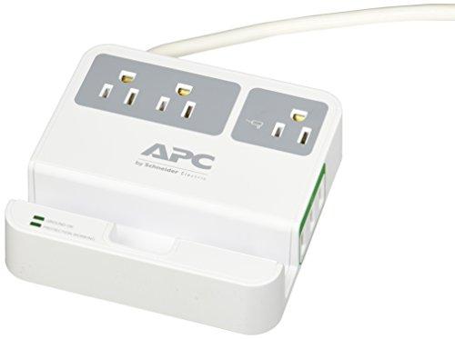 APC P3U3 Essential SurgeArrest, 3 Steckdosen, 3 USB-Ladeanschlüsse, 120 V NA weiß