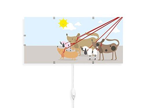 yourdea - Kinderzimmer Wandlampen Wechsel Bild für IKEA GYLLEN 56cm mit Motiv: Gassi Gehen